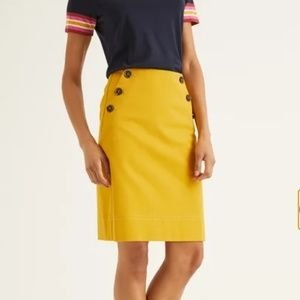 Boden Imogen A-line Mini Skirt in Saffron EUC